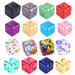 Fidget Cube Spinner High Quality Aluminium or Funky Plastic Styles *** FREE SHIPPING *** - Delivered Value