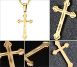 Stainless Steel Gold Silver Cross Pendant Necklace *** FREE SHIPPING *** - Delivered Value