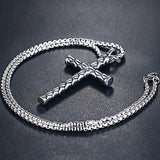 Stainless Steel Dragon Scales Cross Pendant Necklace *** FREE SHIPPING **** - Delivered Value