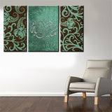 3pc Modern Islamic Calligraphy Canvas Art 100% Handmade Oil Painting *** FREE SHIPPING *** - Delivered Value