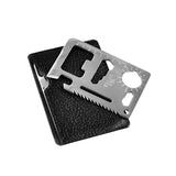 Stainless Steel Multi-function 11 in 1 Tactical Outdoor Pocket Credit Card Tool - Delivered Value