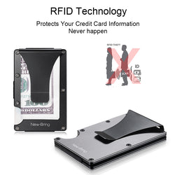 Anti RFID Blocking Aviation Grade Aluminium Bank Card Holder and Money Clip - Delivered Value