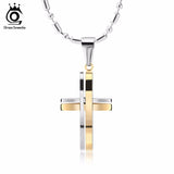 High Quality Stainless Steel Bold Layered Cross Pendant Necklace *** FREE SHIPPING *** - Delivered Value