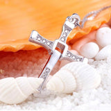 Genuine 925 Sterling Silver The Fast and Furious Crystal Cross Pendant Necklace *** FREE SHIPPING *** - Delivered Value