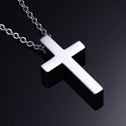 Simple Stainless Steel Cross Pendant Necklace *** FREE SHIPPING *** - Delivered Value