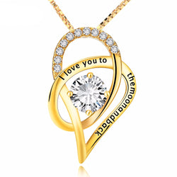 Genuine 925 Sterling Silver & Gold Plated Crystal Pendant Necklace *** FREE SHIPPING *** - Delivered Value