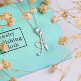 Genuine 925 Sterling Silver Letter 'A' Pendant Necklace  *** FREE SHIPPING *** - Delivered Value