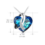 Genuine 925 Sterling Silver Swarovski Blue Crystal Pendant Necklace  *** FREE SHIPPING *** - Delivered Value
