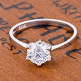 Genuine 925 Sterling Silver Engagement Ring *** FREE SHIPPING *** - Delivered Value