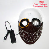 Flashing LED Costume Masks 10 Colors *** FREE SHIPPING *** - Delivered Value