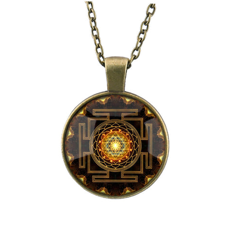 Sri Yantra Pendant Necklace  *** FREE SHIPPING *** - Delivered Value