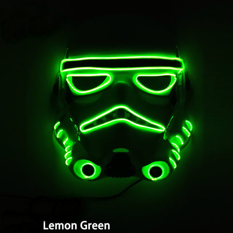 Flashing LED Star Wars Stormtropper Style Costume Masks *** FREE SHIPPING *** - Delivered Value