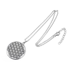 Silver and 18K Gold Flower of Life Pendant Necklace *** FREE SHIPPING *** - Delivered Value