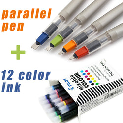 Pilot Calligraphy Art Parallel Pens 4 Sizes plus cartridges - Delivered Value