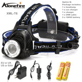 AloneFire HP79 LED Rechargeable Head light 3800LM - Delivered Value