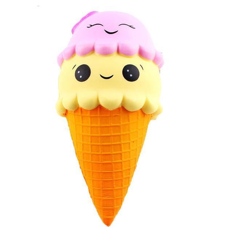 Squishy Slow Rising Ice Cream Two Sizes with key ring - Delivered Value