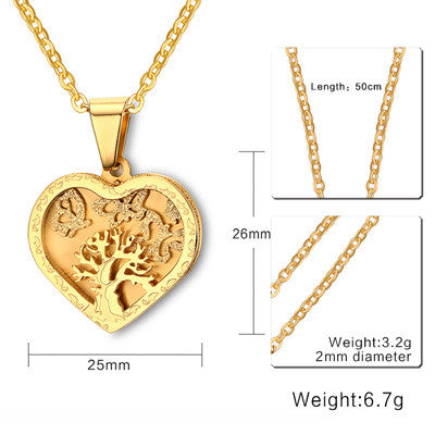 Tree of Life Gold Plated Pendant Necklace - Delivered Value