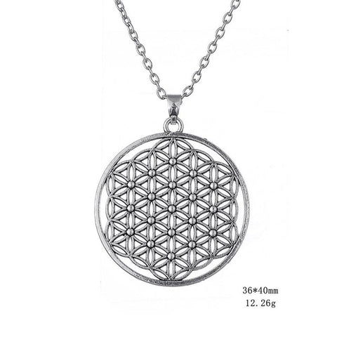 Silver and 18k gold flower of life pendant necklace free silver and 18k gold flower of life pendant necklace free shipping mozeypictures Gallery