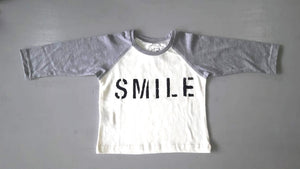 SMILE RAGLAN LONG SLEEVE TSHIRT