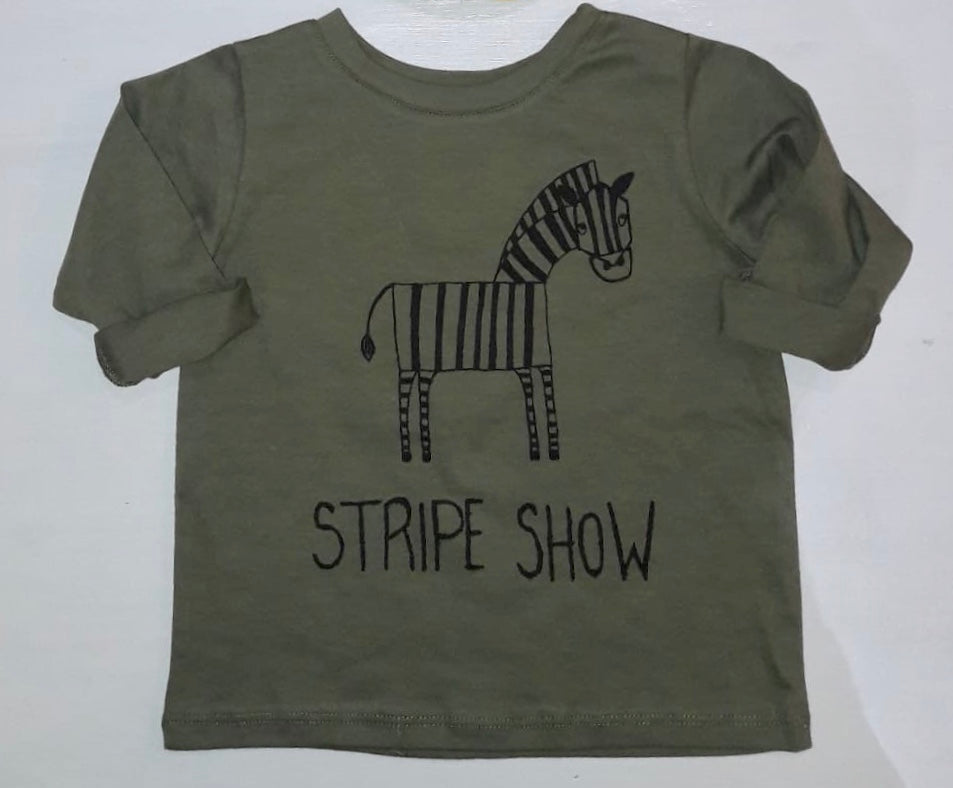 STRIPE SHOW ZEBRA LONG SLEEVE TSHIRT