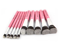10 pcs Top Quality Kabuki Brushes Set (Pink Panther)