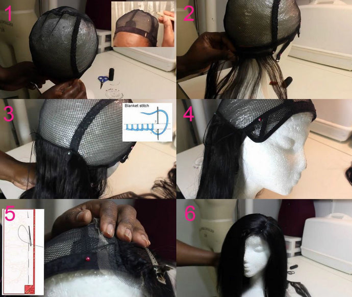 Adjustable Straps DIY Wig Weaving Cap One Size Fit All Net Mesh Full Cap