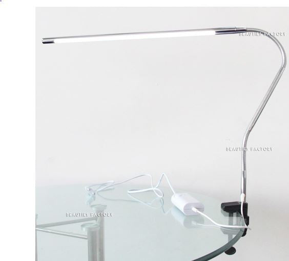 LED Table Lamp W/ Adjustable Angle Spring Strong Desk Clamp