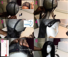 Black Adjustable Straps DIY Wig Weaving Cap One Size Fit All Net Mesh Full Cap