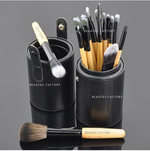 18pcs Makeup Brushes Black Leather Brush Stand (The Bat)