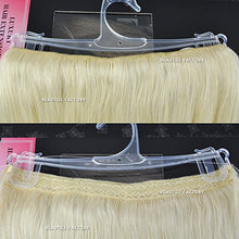 Beauties Factory Halo Secret Flip in Hair Extensions Platinum Blonde 100% Remy Human Hair 20 inch