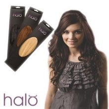 "16"" Deluxe Clip-in Remy Human Hair in Light Brown Halo Hair Extensions (#6)"