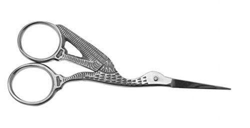 Hive of Beauty Stainless Steel Nail Perfection Silver Stork Fibreglass/ Silk Nail Scissors CODE: HBA8099