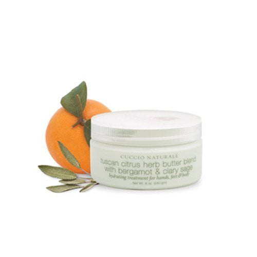 Cuccio Naturale Tuscan Citrus Herb Butter Blend with Bergamot & Clary Sage 8floz CODE: CN_B&C_8oz