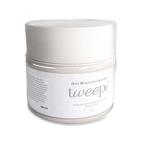 Tweepi Hair Growth Inhibitor Cream- Permanent Body and Face Hair Removal - Modern Day Ant Egg Cream- Paraben Free Hair Remover Cream Face And Body - MADE IN UK- 50G