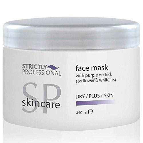 Strictly Professional Professional Salon Face Mask with Purple Orchid, Starflower & White Tea 450ml for Dry/ Plus Skin 450ml - For Dry/ Plus Skin