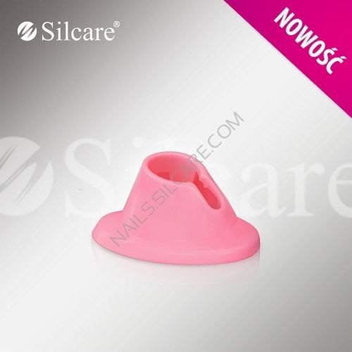 New Silcare Graceful Pink Rubber Holder For a Nail Art Tips Polish SK-RB-10C