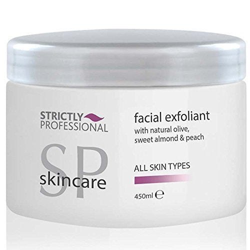 Strictly Professional Professional Salon Facial Exfoliant with Natural Olive, Sweet Almond & Peach 450ml 450ml -