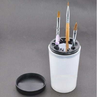Empty Translucent Nail Art Brush Pen White Holding Cleaning Cleanser Bottle Cup UV Acrylic Pen Pot Bottle Tool 1pc CODE: #752G