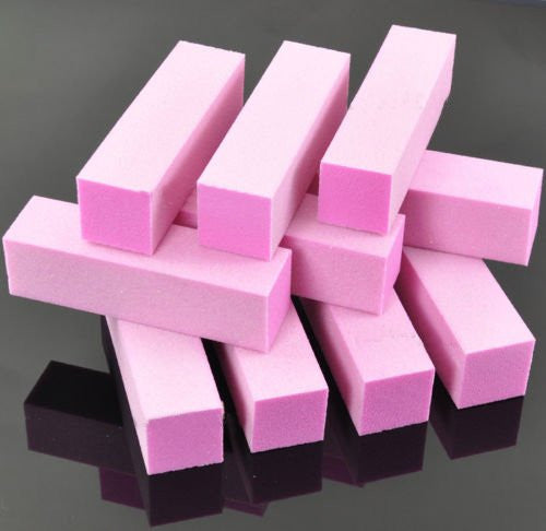 10 pieces Pink Nail File Sanding Buffer Block Acrylic UV Gel Manicure Pedicure CODE: #225