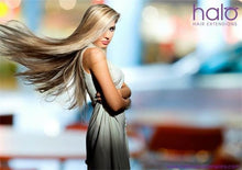 "16"" Deluxe Clip-in Remy Human Hair Swedish Blonde Halo Hair Extensions (#20)"