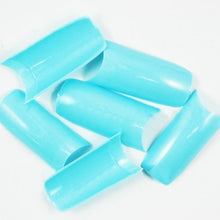 500 pcs New Professional French false nails for acrylic nail art tips design decoration (Grade A) Opaque Light Blue
