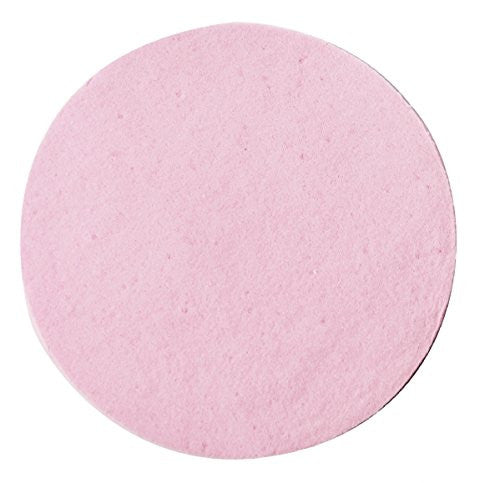 Hive of Beauty PVA Round 8cm Pink Cosmetic Sponge Facial Washing Cleansing Exfoliating Pads CODE: HBA1450