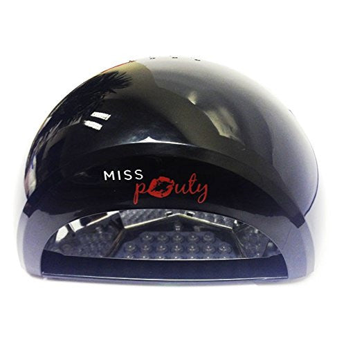 Miss Pouty Professional LED Shellac Gel Nail Lamp Dryer - 12W- Glossy Black