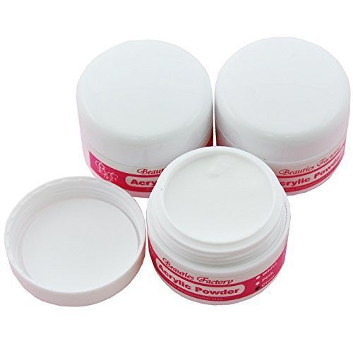 3pcs Clear Acrylic Powder Manicure For Nail Art Tips #152