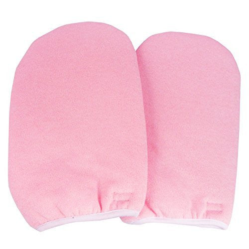 BF New Synthetic Cotton Pink Paraffin Wax Protection Hand Gloves Soak Off UV Gel Nail #391P