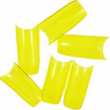 500pcs New Professional French false nails for acrylic nail art tips design decoration (Grade A) Transparent Yellow