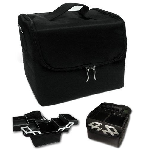 New Professional Extendable Makeup Case Cosmetic Box Beauty Case Tool (4 Compartments)