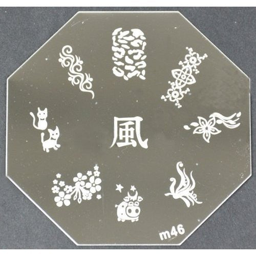 Nail Art Stamping Plate - M46 CODE: M46-Plate