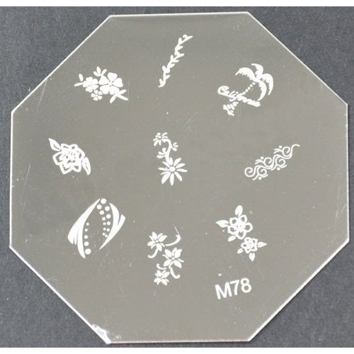 Nail Art Stamping Plate - M78 CODE: M78-Plate