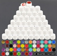 14 x Colours Glitter Color UV Builder Gel Nail Art For Glitter Nail Effect CODE: 975C